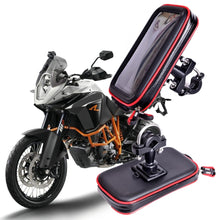 Load image into Gallery viewer, 2018 Upgrade Waterproof Bag GPS Motorcycle Phone Holder Bag Bicycle Phone Holder Bike Handlebar Support Moto Mount Card slots