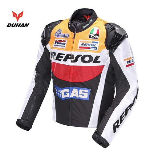 2018 Autumn Winter DUHAN REPSOL motorcycle riding jacket man motorbike jackets personality sports motor clothes of 600D oxford