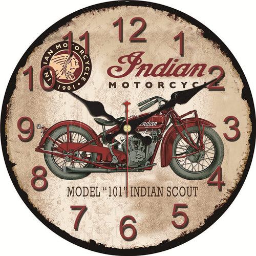 Shabby Chic Motorcycle Design Clocks Home Decor Office Cafe Kitchen Wall Watches Silent Wall Clocks Art Vintage Large Wall Clock