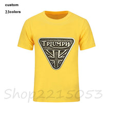 Load image into Gallery viewer, 2018 new fashion Classic TRIUMPH MOTORCYCLE T Shirt Men 100% Cotton Short Sleeve Good Quality male T-shirt Top Tee tshirt Summer