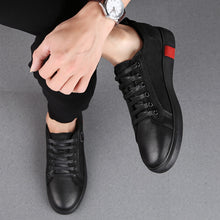 Load image into Gallery viewer, big size 47 Men Sneakers Luxury brand Fashion Shoes genuine Leather Male Flat shoes lace up Sneakers Brand Casual Shoes k3