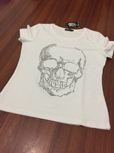 Load image into Gallery viewer, S-4XL Plus Size Womens Skull Tshirt 2019 Diamond Skull Print Punk Death Tshirt Hiphop Top Tees Motorcycle Summer Tshirts Femme