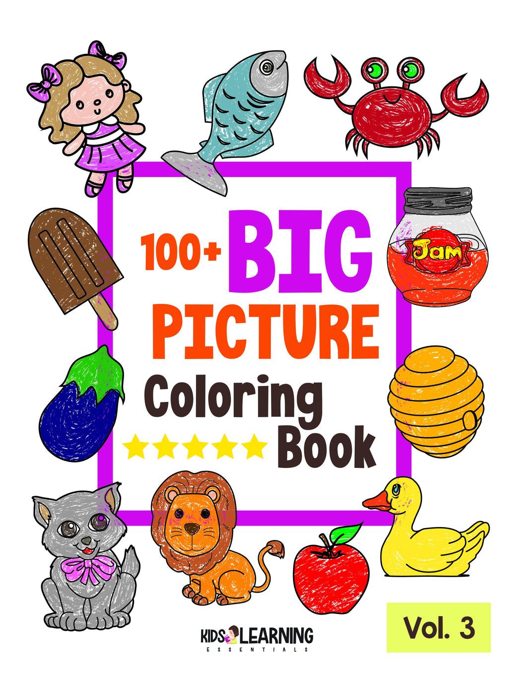 100+ Big Picture Coloring Book Volume 3 Digital