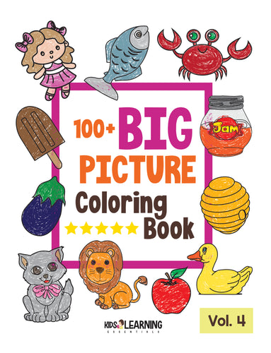 100+ Big Picture Coloring Book Volume 4