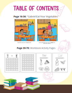 Gabriel Eat Your Vegetables Story + Workbook