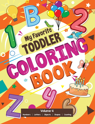 My Favorite Toddler Coloring Book Volume 4 Digital Edition