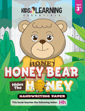 Load image into Gallery viewer, Honey Bear Hides The Honey Handwriting Paper