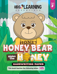 Honey Bear Hides The Honey Handwriting Paper