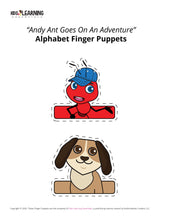 Load image into Gallery viewer, Free Letter A Finger Puppets