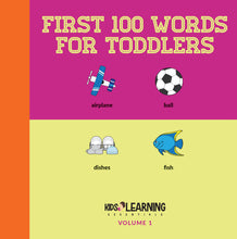 Load image into Gallery viewer, First 100 Words For Toddlers Volume 1 Digital Edition