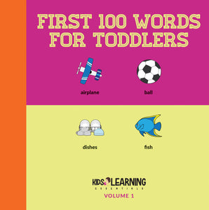 First 100 Words For Toddlers Volume 1 Digital Edition
