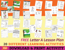 Load image into Gallery viewer, Free Letter A Lesson Plan