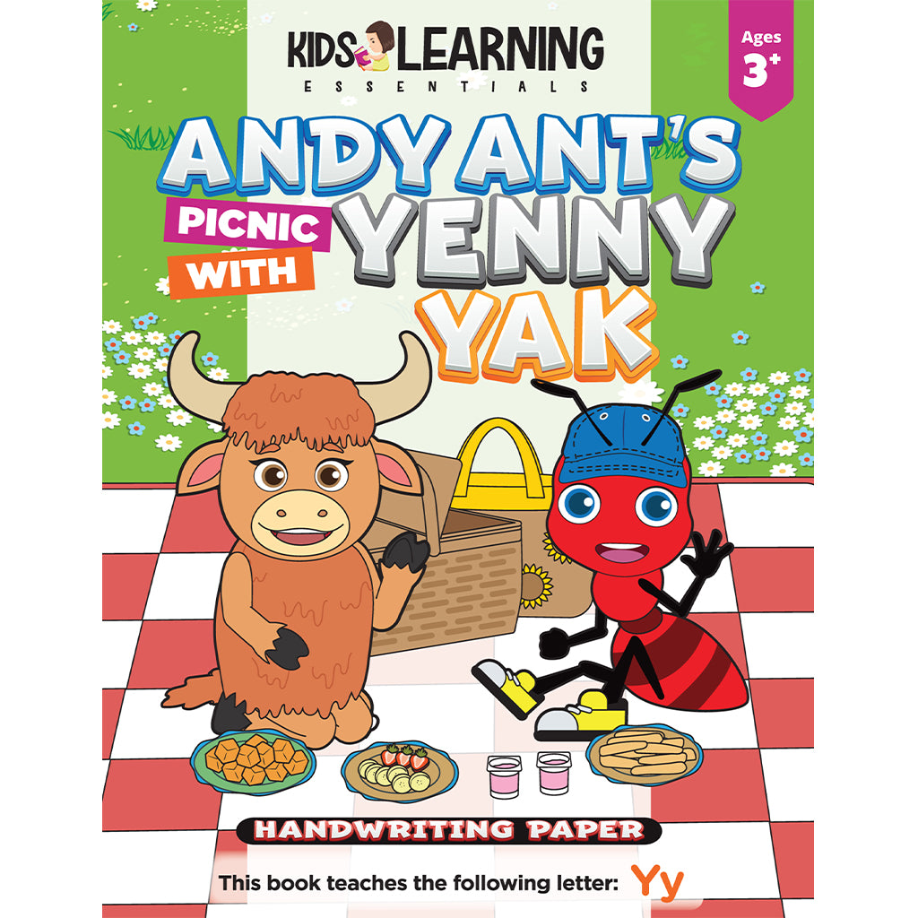 Andy Ant's Picnic With Yenny Yak Handwriting Paper