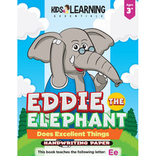 Load image into Gallery viewer, Eddie The Elephant Does Excellent Things Handwriting Paper
