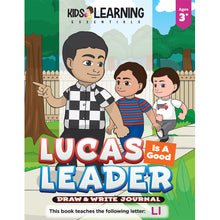 Load image into Gallery viewer, Lucas Is A Good Leader Draw & Write Journal