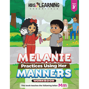 Melanie Practices Using Her Manners Workbook