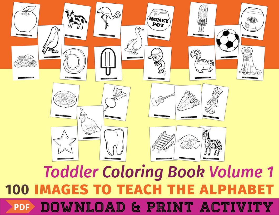 Toddler Coloring Book Vol. 1 - Digital Edition