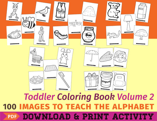 Toddler Coloring Book Vol. 2 - Digital Edition