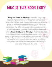 Load image into Gallery viewer, Andy Ant Goes To A Party Story + Workbook