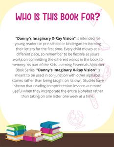 Danny's Imaginary X-ray Vision Story + Workbook