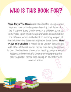 Flora Plays The Ukulele Story + Workbook