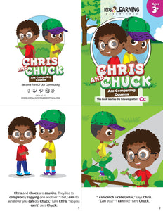 Chris And Chuck Are Competing Cousins Story + Workbook