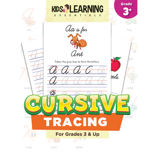 Cursive Handwriting Tracing Pages For Kids