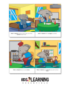 Eddie The Elephant Does Excellent Things Story + Workbook