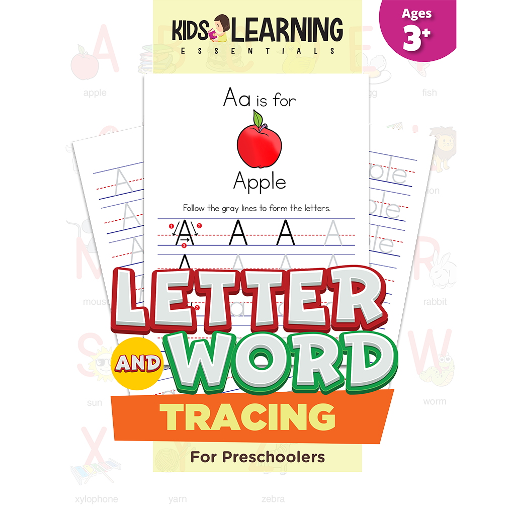 Letter And Word Tracing For Preschoolers