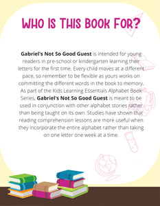 Gabriel's Not So Good Guest Story + Workbook