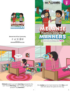 Melanie Practices Using Her Manners Story + Workbook