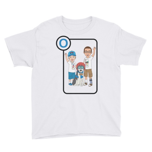 Ollie Almost Goes Into Outer Space Youth Short Sleeve T-Shirt (Design 1)