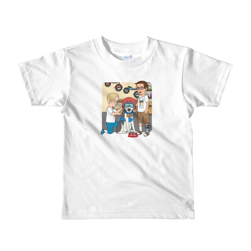Ollie Almost Goes To Outer Space Short-Sleeve Kids T-Shirt (Design 6)
