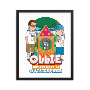 Ollie Almost Goes To Outer Space Framed Poster