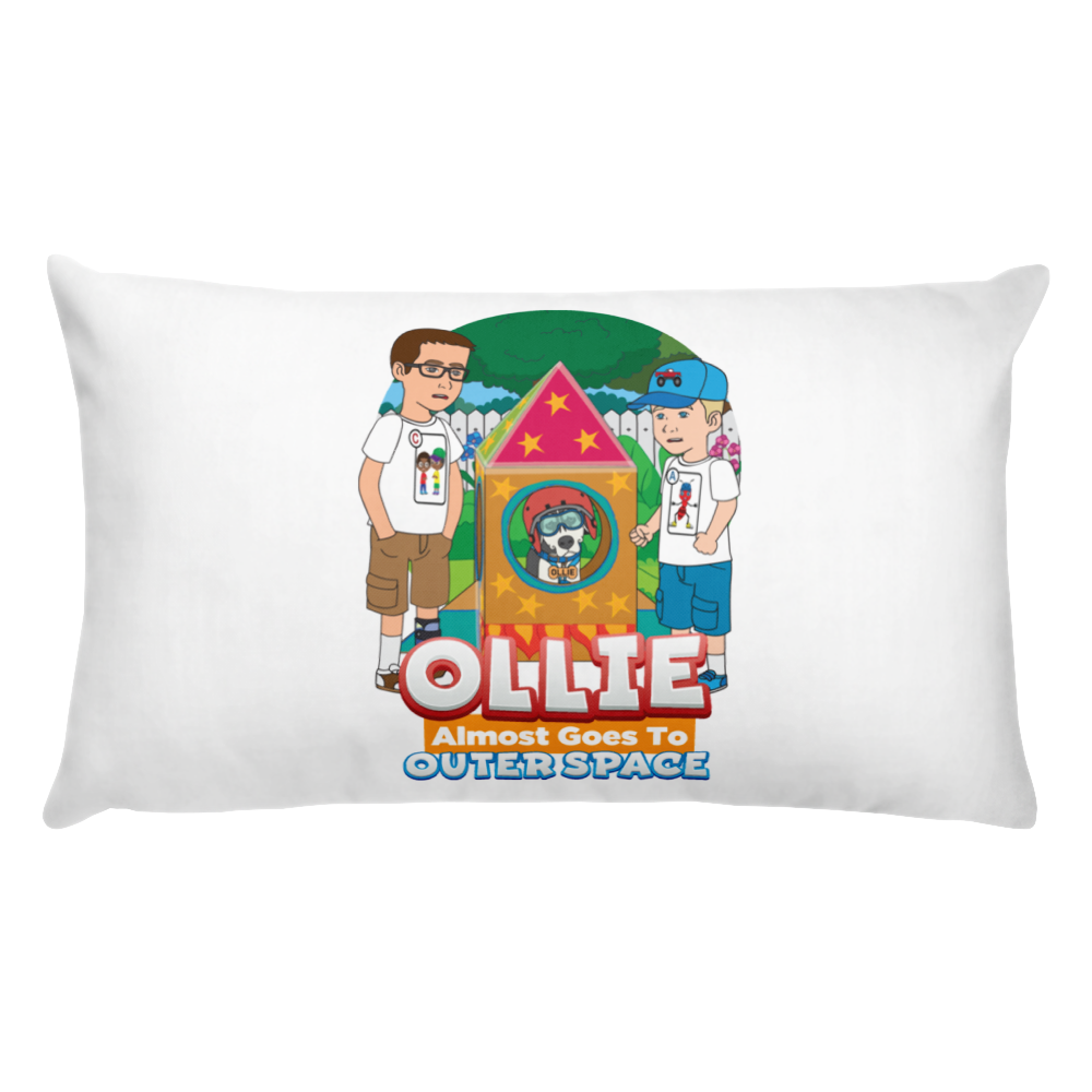 Ollie Almost Goes To Outer Space Throw Pillow