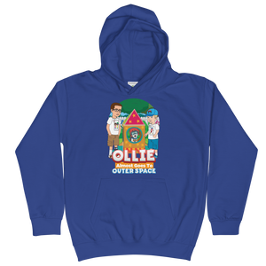 Ollie Almost Goes To Outer Space Kids Hoodie