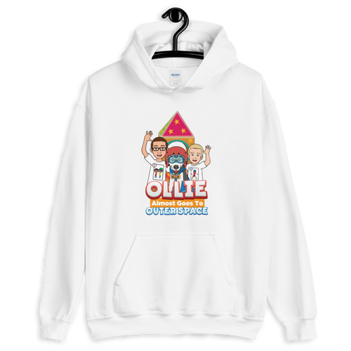 Ollie Almost Goes To Outer Space Adult Unisex Hoodie (Design 2)