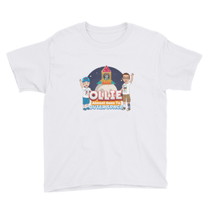 Ollie Almost Goes Into Outer Space Youth Short Sleeve T-Shirt (Design 3)