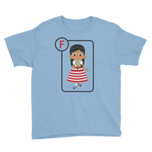 Load image into Gallery viewer, F Is For Flora Short Sleeve Kids T-Shirt