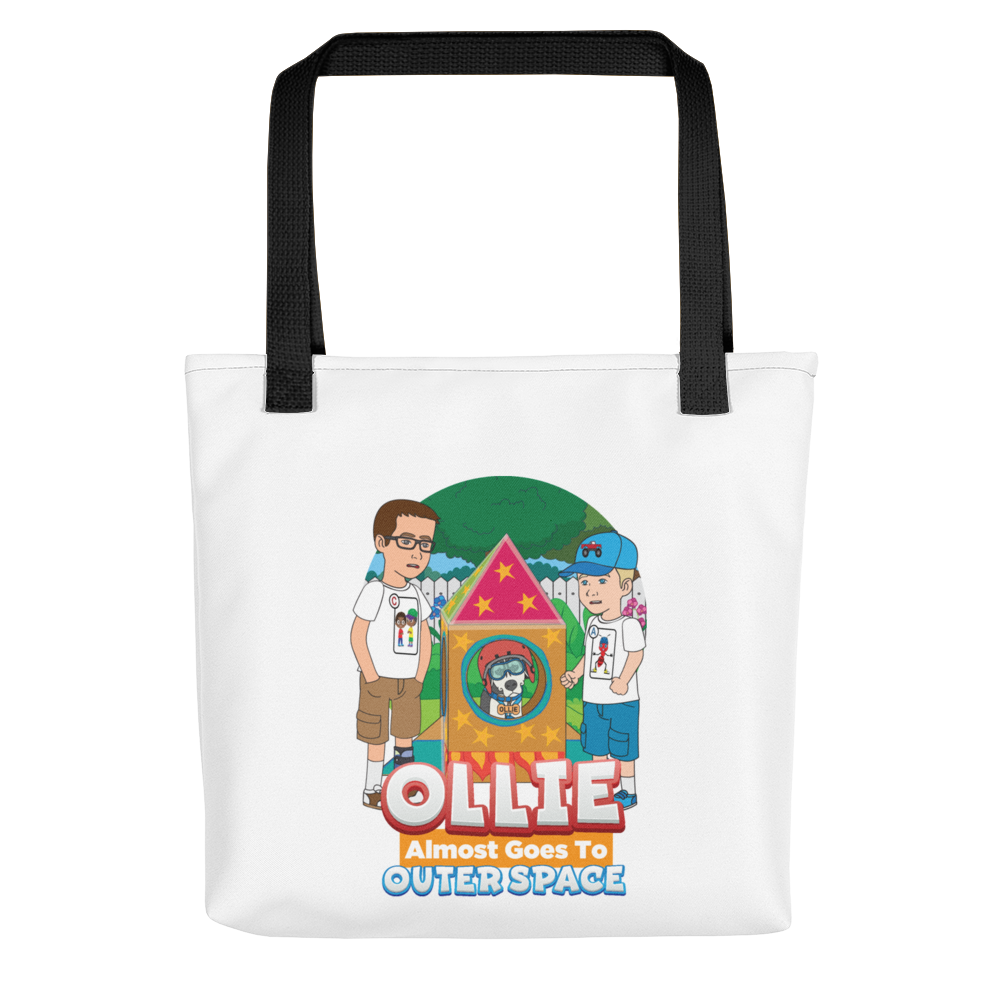 Ollie Almost Goes To Outer Space Tote Bag