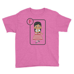 F Is For Flora Short Sleeve Kids T-Shirt