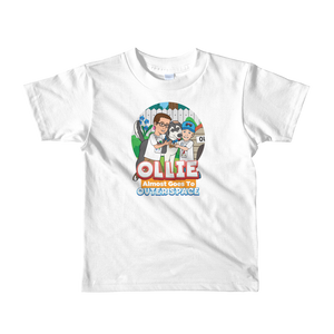 Ollie Almost Goes To Outer Space Short-Sleeve Kids T-Shirt (Design 4)