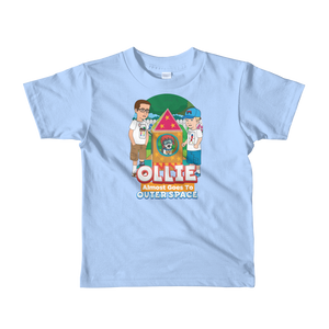Ollie Almost Goes To Outer Space Short-Sleeve Kids T-Shirt (Design 7)