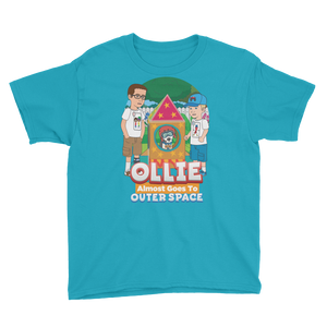 Ollie Almost Goes Into Outer Space Youth Short Sleeve T-Shirt (Design 7)