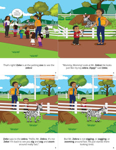 Zeke Puts Mr Zebra To Sleep Story + Workbook