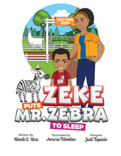Load image into Gallery viewer, Zeke Puts Mr Zebra To Sleep Story + Workbook