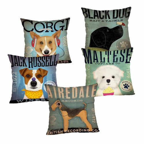 Cute Dog Cushion Cover