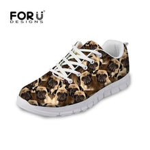Load image into Gallery viewer, Pug Woman Tennis Shoe