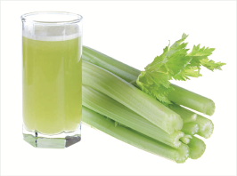 celery juice in class with stalks