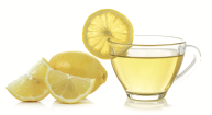 water with lemon juice and lemon wedges